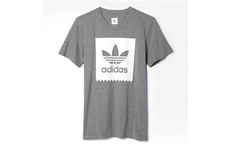 triko ADIDAS - Blkbrd Logo Fil Core Heather/White (COREHEATH/) velikost: M