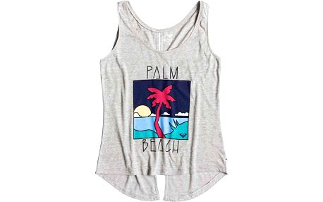 tílko ROXY - Hyper Paradise Palm Beach Heritage Heather (SGRH) velikost: L
