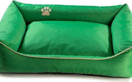 Argi pelech obdélníkový - snímatelný potah zelený vel. L