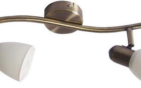 Nástěnné svítidlo Rabalux Soma 6307 bronzová/bílá, 2 světla