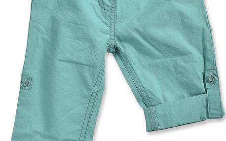 Blue Seven Dívčí ohrnovací kalhoty - tyrkysové
