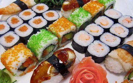Talíř asijských pochoutek: Barevný sushi set