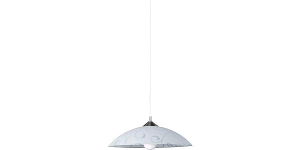 Závěsné svítidlo Rabalux Harmony 3856, bílá vzor/matný chrom