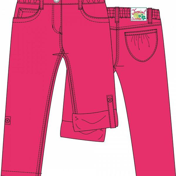 Blue Seven Dívčí ohrnovací kalhoty - růžové