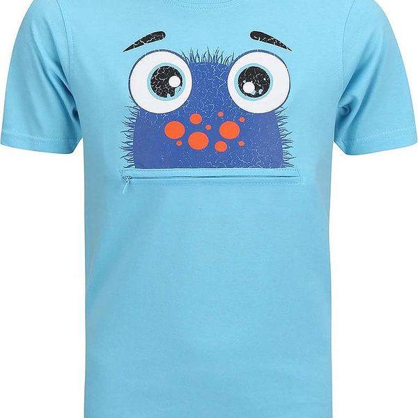 Blue Seven Chlapecké tričko s potiskem a kapsičkou - tyrkysové