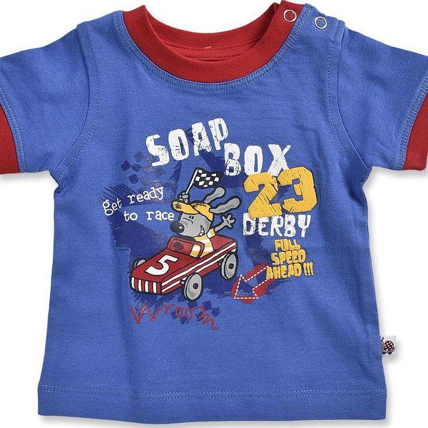 Blue Seven Chlapecké tričko Soap Box - modré