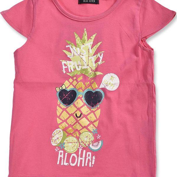 Blue Seven Dívčí tričko s ananasem - růžové