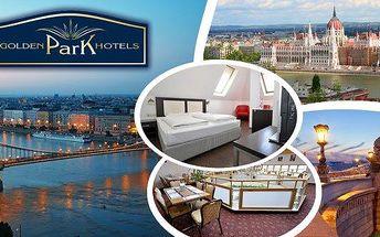 Luxusní pobyt v 4* Golden Park Hotel Budapest na 3, 4 nebo 6 dní pro 2 osoby a dítě do 12 let s bufetovými snídaněmi, neomezeným vstupem do sauny, fitness a welcome drinkem. Hotel se nachází přímo na stanici metra v samém centru města. Pobyt v centru Buda