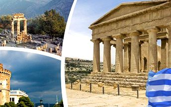 Letecký zájezd do Řecka na 5-6 dní pro jednoho s letenkou, ubytováním, snídaněmi, průvodcem.