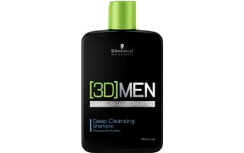 Schwarzkopf Prof. Hloubkově čisticí šampon pro muže 3D (Deep Cleansing Shampoo) 250 ml