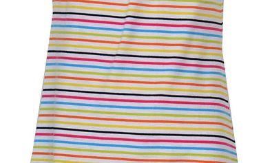 Topo Dívčí pruhované šaty s mašličkou - barevné