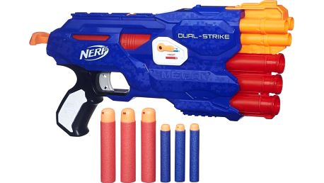 Nerf ELITE Dual-Strike na dva druhy šipek