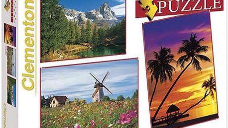 Clementoni Puzzle Krajina 1 X 500 + 2 X 1000 dílků