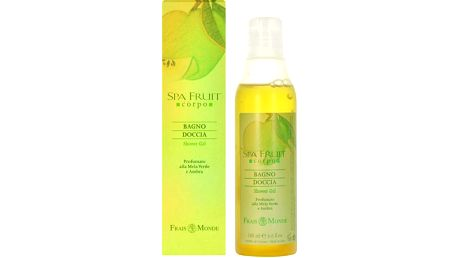 Frais Monde Spa Fruit Shower Gel Green Apple and Amber Sprchový gel 200ml pro ženy Zelené jablko a ambra