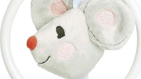 BEBE-JOU Little Mice, kousátko s plyšovou myškou