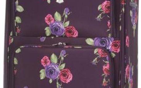 "REAbags Aerolite cestovní kufr Floral Damson ""L"""
