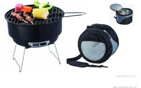 Kemping grill BBQ a chladící taška Horneet SA005, dva za cenu jednoho'