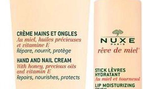 Nuxe Hydratační péče Reve de Miel (Hand And Nail Cream + Lip Stick)