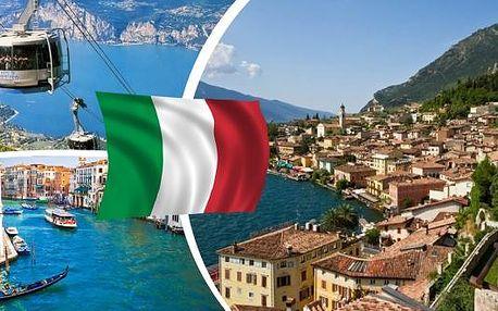 Zájezd na 4 dny do italského tria pro 1 osobu - Benátky, Verona a jezero Lago di Garda.Užijte si neopakovatelnou atmosféru nejznámějšího italského města Benátek, navštivte historické město milenců Romea a Julie - Veronu a relaxujte na pobřeží jezera Lago
