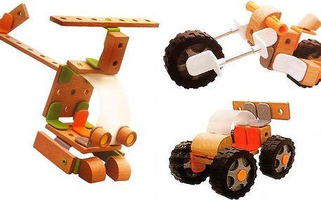 Skládací hračky z kvalitního dřeva pro děti v různých variantách