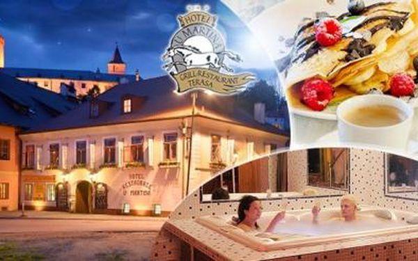 Rožmberk nad Vltavou-3 dny pro dva vč. snídaní, večeří, wellness, palačinky a kávy a brožurky plné slev.