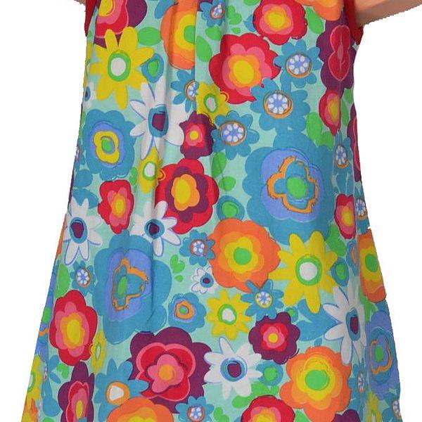 Topo Dívčí květované šaty s mašlí - barevné
