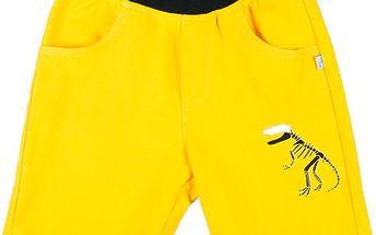 MMDadak Chlapecké kraťasy s dinosaurem Forever - žluté