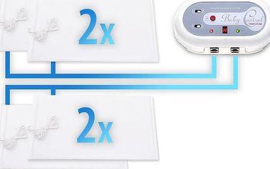 Baby Control Digital Monitor dechu Pro dvojčata - 4 podložky + Dárek DVD - První pomoc dětem