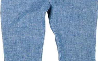 MMDadak Dívčí džínové kalhoty s páskem Secret Garden - modré