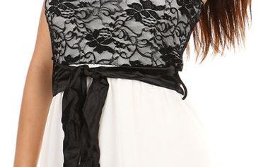 Krásné šaty s delším zadním dílem bílá