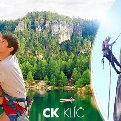 Letní Horoškola pro začátečníky - 1 nebo 2denní kurz horolezectví a lezení pro 1 osobu v Adršpachu!