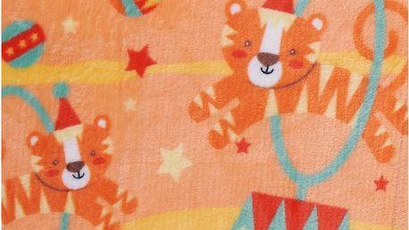 Dětská deka TRICKY oranžová 75x100 cm Essex