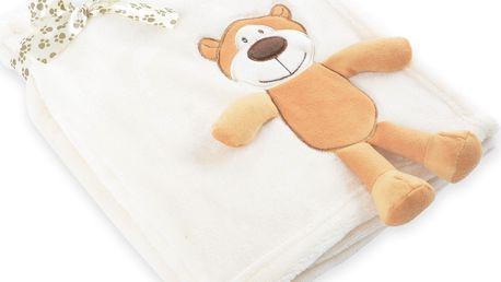 Dětská deka s aplikací HUG ME medvídek 75x100 cm Essex
