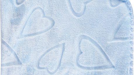 Dětská deka se srdíčky SURI modrá 80x90 cm Mybesthome