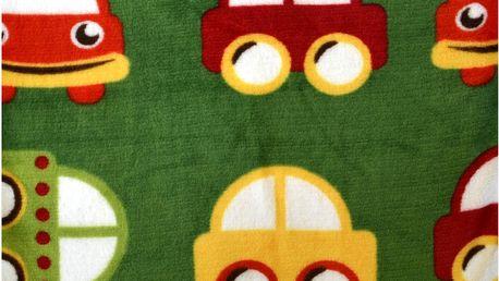 Dětská deka HAPPY FACES zelená 75x100 cm Essex