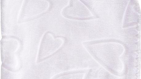 Dětská deka se srdíčky SURI bílá 80x90 cm Mybesthome