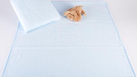 Dětská deka s tlačeným vzorem VALLY 80x90 cm modrá Mybesthome