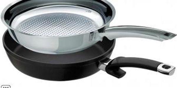 Pánve Crispy Steelux Premium a Protect Alux Premium 24 cm sada 2ks FISSLER FS-2140024102
