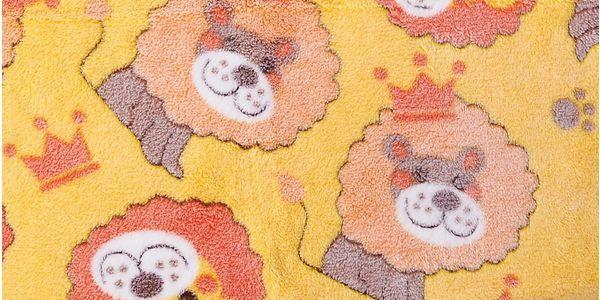 Dětská deka CIRCUS žlutá s lvíčkem 75x100 cm Essex