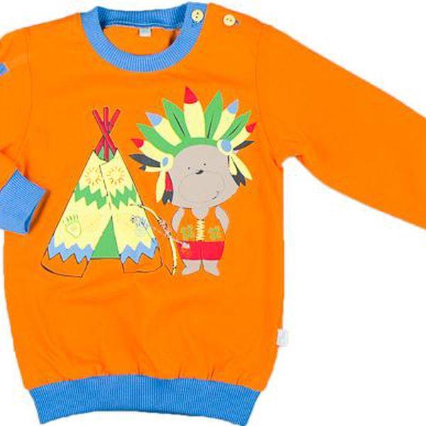 MMDadak Chlapecká mikina Indián - oranžová