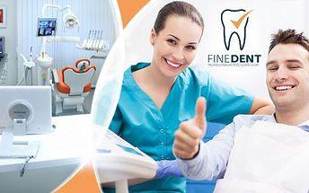 Kompletní dentální hygiena + fluoridační lak a možnost bělení zubů i preventivní prohlídky.