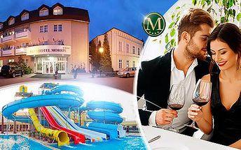 Hotel Morris**** Nový Bor na 3 nebo 5 dní pro dva s polopenzí + sauna, vířivka a aquapark