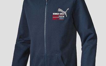 Puma Chlapecká mikina Style Athletic - tmavě modrá