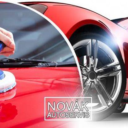 Rozleštění laku na vozidle speciální sadou přípravků + bonus vyleštění okének zvenku.