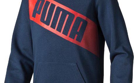 Puma Chlapecká mikina Fun Big Logo - tmavě modrá