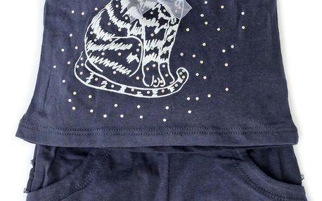 Gelati Dívčí set trička a šortek - tmavě modrý