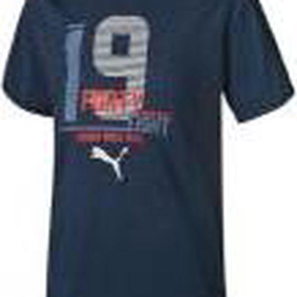 Puma Chlapecké tričko Style Athletic - tmavě modré