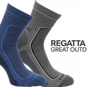 Pánské funkční ponožky Regatta RMH031 ACTIVE LStyle 2 páry Black Clove