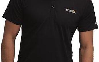 Pánské funkční POLO tričko Regatta RMT099 MAVERIK II Black