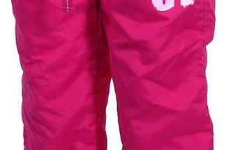 Bugga Dívčí kalhoty s podšívkou - růžové
